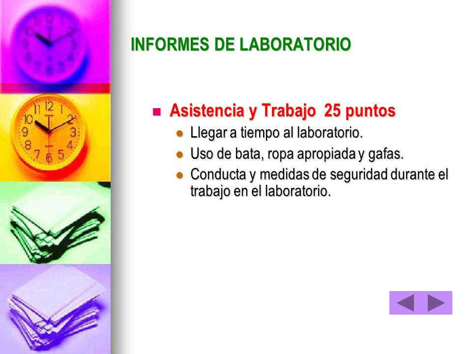 INFORMES DE LABORATORIO
