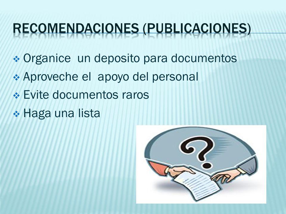 Recomendaciones (publicaciones)