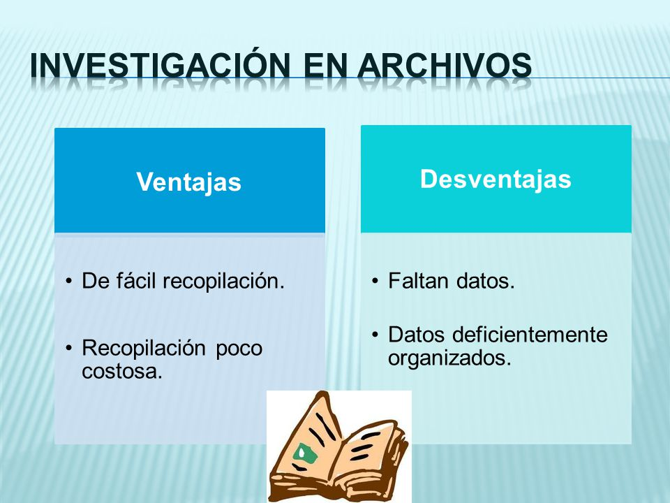 Investigación en archivos