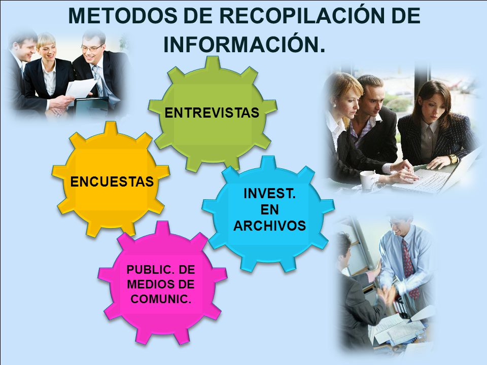 METODOS DE RECOPILACIÓN DE INFORMACIÓN. PUBLIC. DE MEDIOS DE COMUNIC.