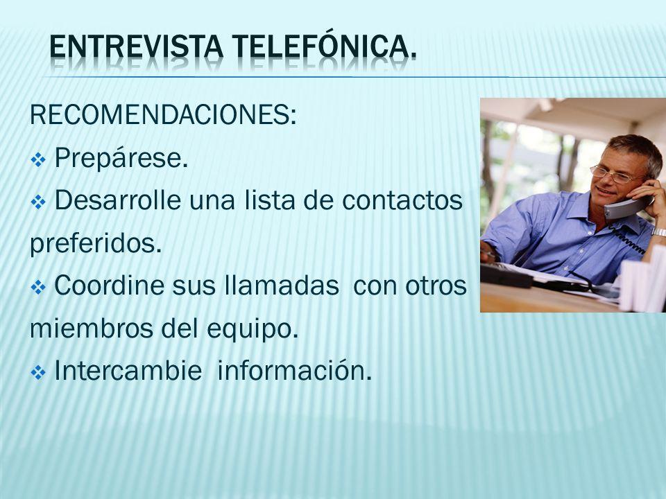 entrevista telefónica.
