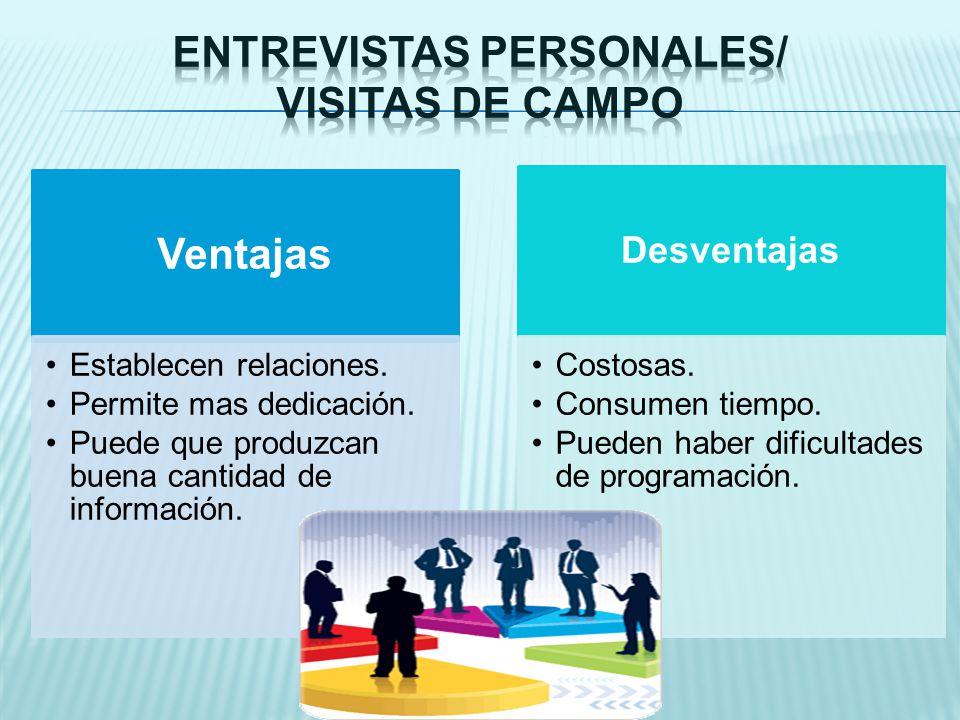 Entrevistas personales/ Visitas de Campo