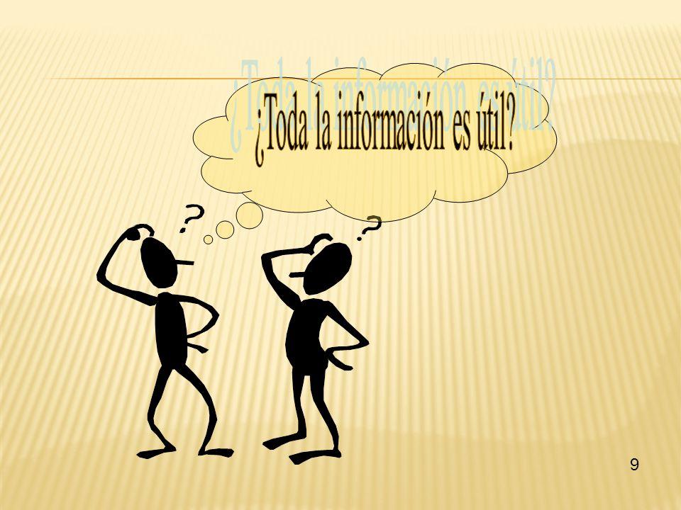 ¿Toda la información es útil