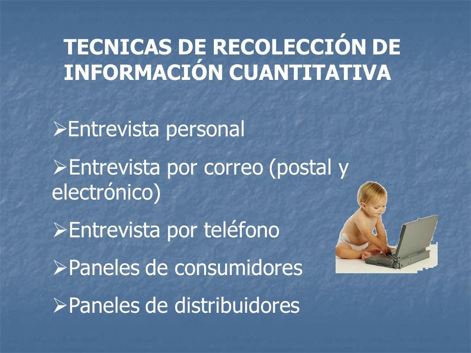 TECNICAS DE RECOLECCIÓN DE INFORMACIÓN CUANTITATIVA