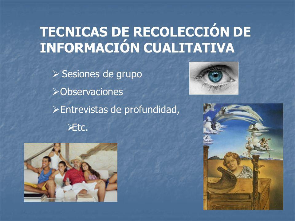 TECNICAS DE RECOLECCIÓN DE INFORMACIÓN CUALITATIVA