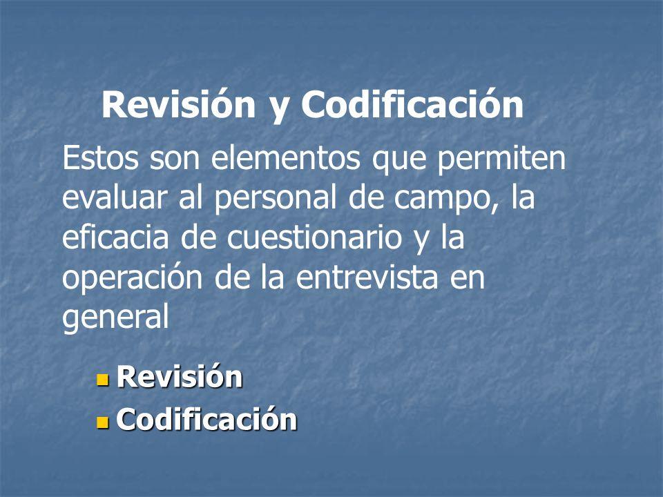 Revisión y Codificación