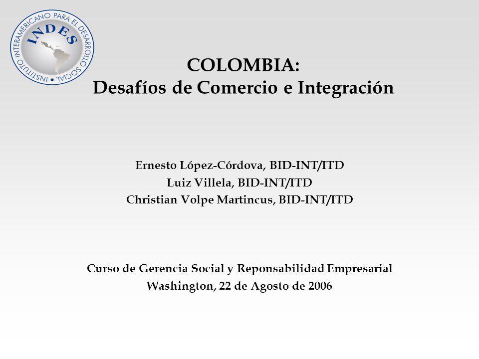 COLOMBIA: Desafíos de Comercio e Integración