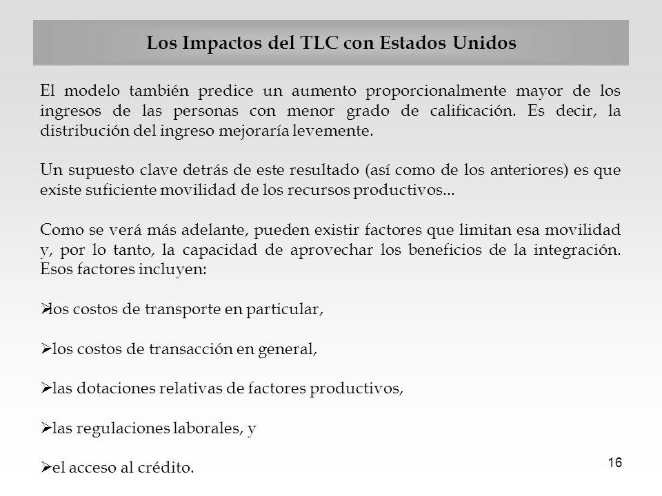Los Impactos del TLC con Estados Unidos