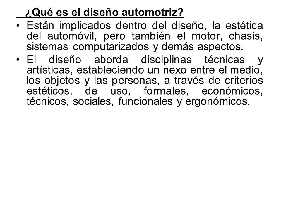 ¿Qué es el diseño automotriz