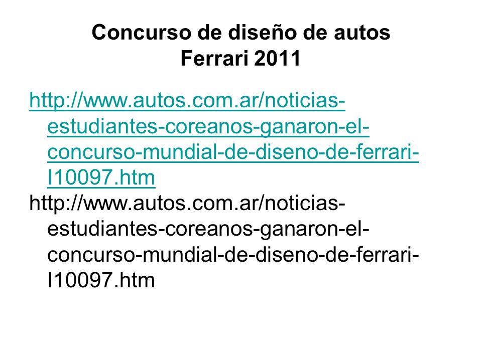 Concurso de diseño de autos Ferrari 2011
