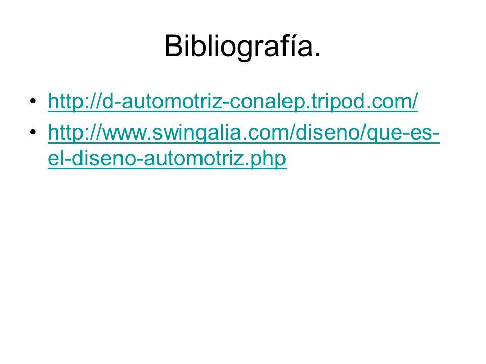 Bibliografía. http://d-automotriz-conalep.tripod.com/