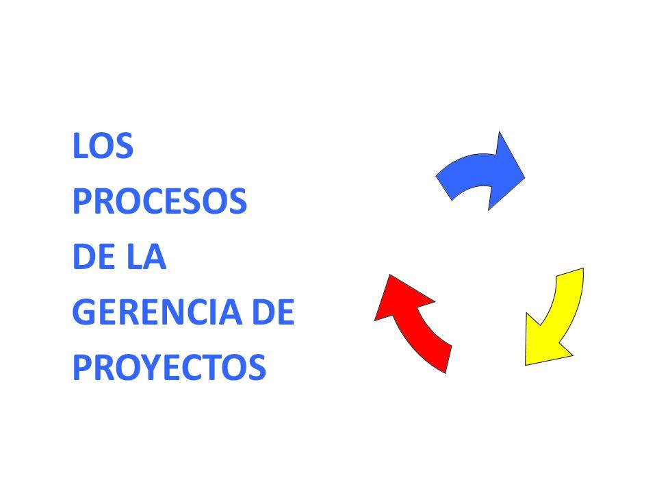 LOS PROCESOS DE LA GERENCIA DE PROYECTOS