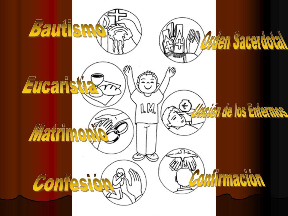 Bautismo Orden Sacerdotal Eucaristía Unción de los Enfermos Matrimonio Confirmación Confesión