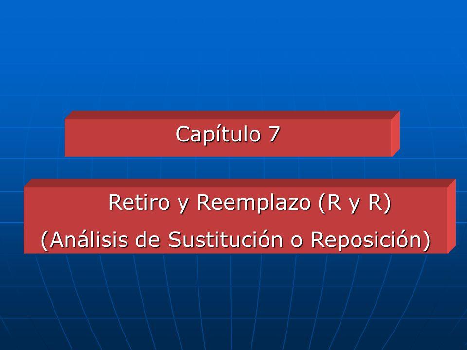 Retiro y Reemplazo (R y R) (Análisis de Sustitución o Reposición)