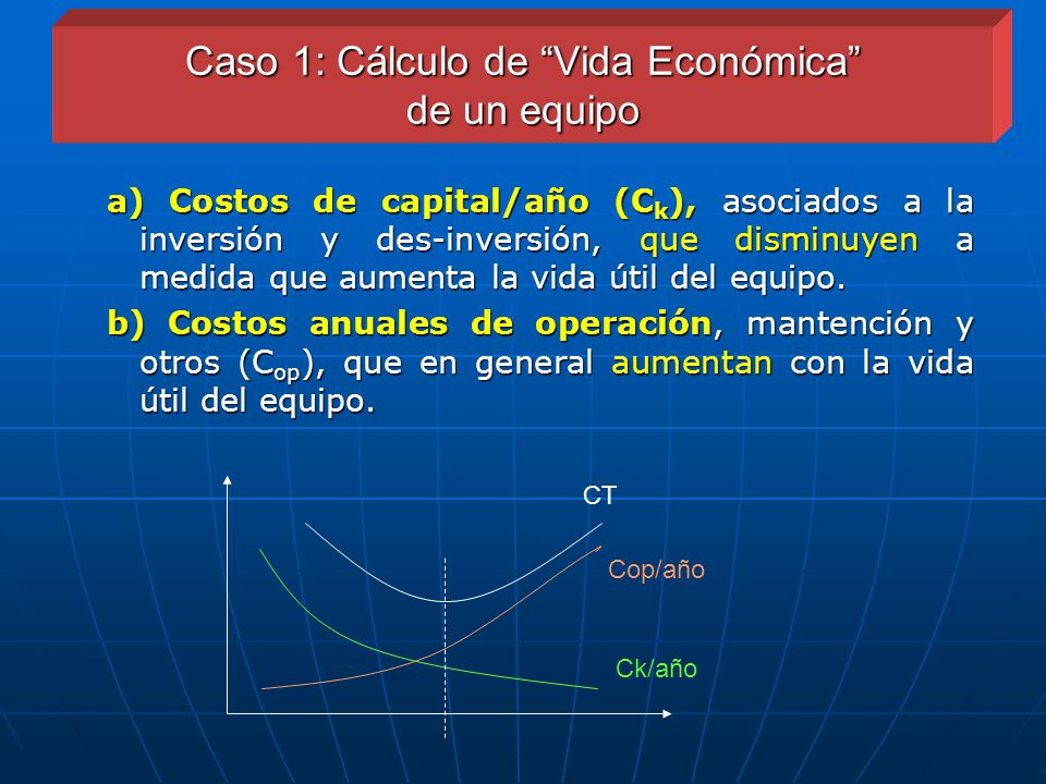 Caso 1: Cálculo de Vida Económica de un equipo