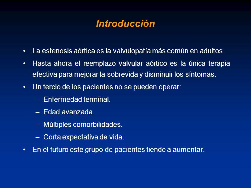 Introducción La estenosis aórtica es la valvulopatía más común en adultos.