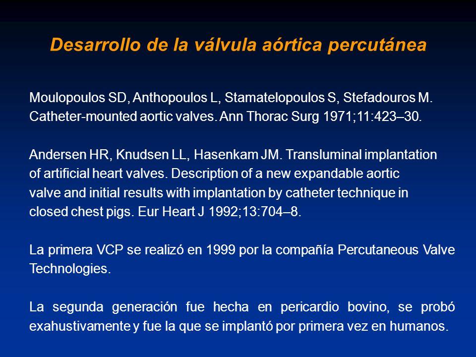 Desarrollo de la válvula aórtica percutánea