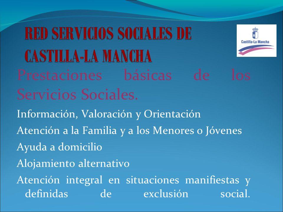 Prestaciones básicas de los Servicios Sociales.