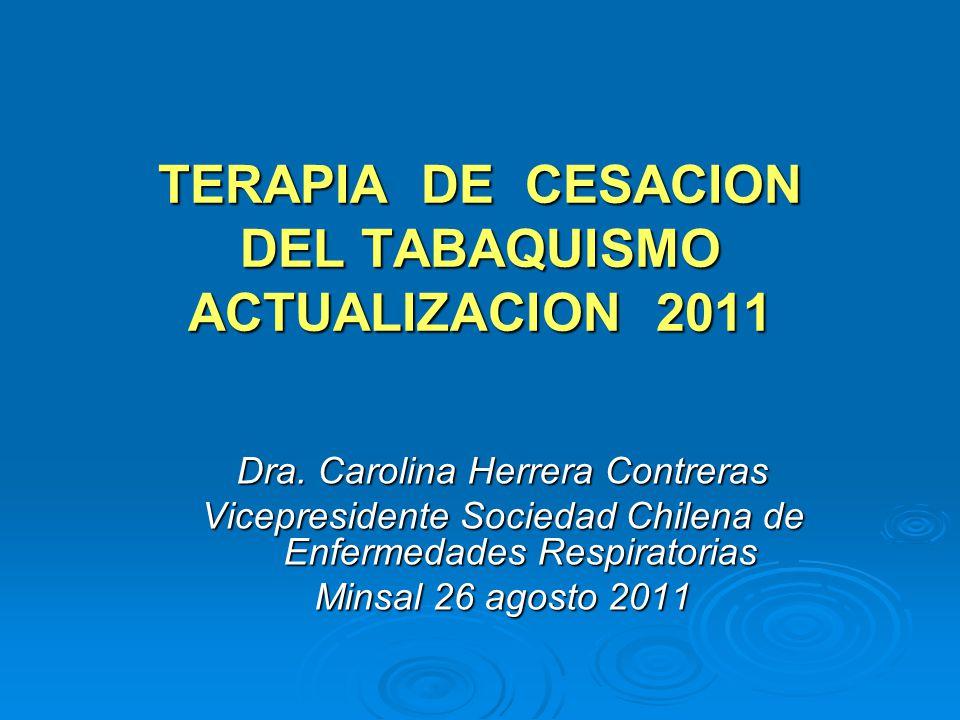 TERAPIA DE CESACION DEL TABAQUISMO ACTUALIZACION 2011