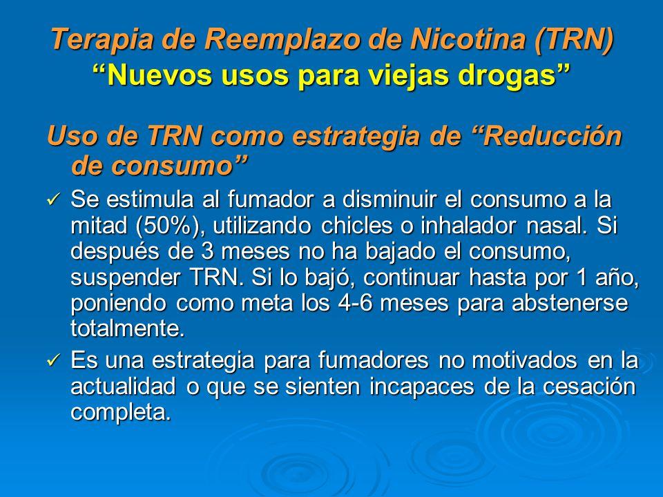 Terapia de Reemplazo de Nicotina (TRN) Nuevos usos para viejas drogas