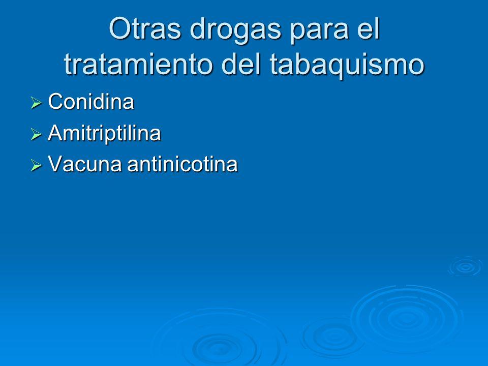 Otras drogas para el tratamiento del tabaquismo