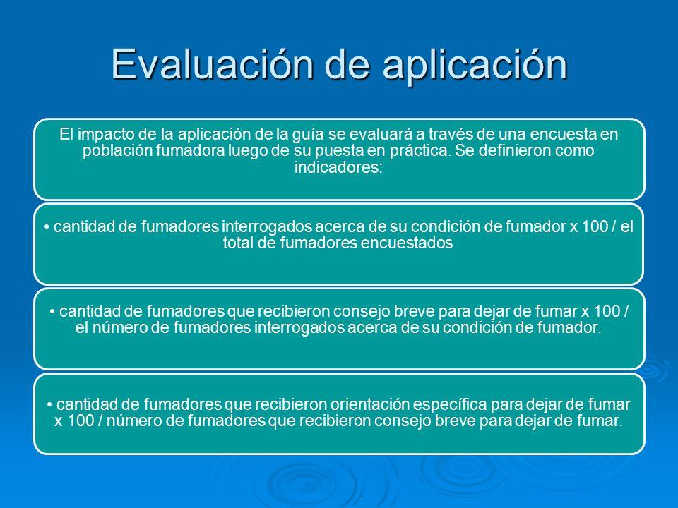 Evaluación de aplicación