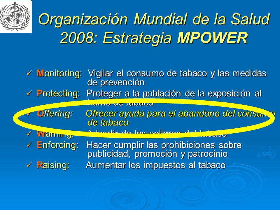 Organización Mundial de la Salud 2008: Estrategia MPOWER