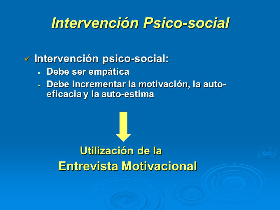 Intervención Psico-social