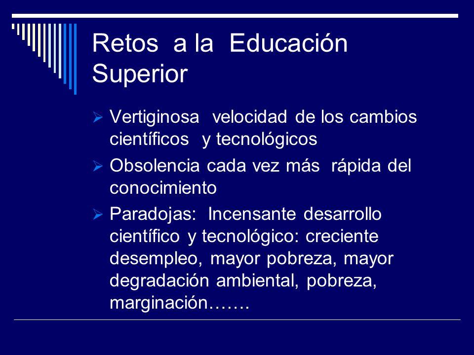 Retos a la Educación Superior