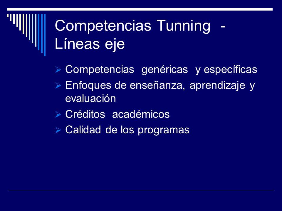 Competencias Tunning - Líneas eje