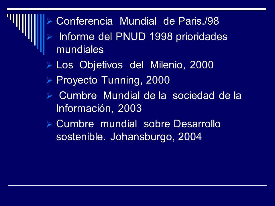Conferencia Mundial de Paris./98