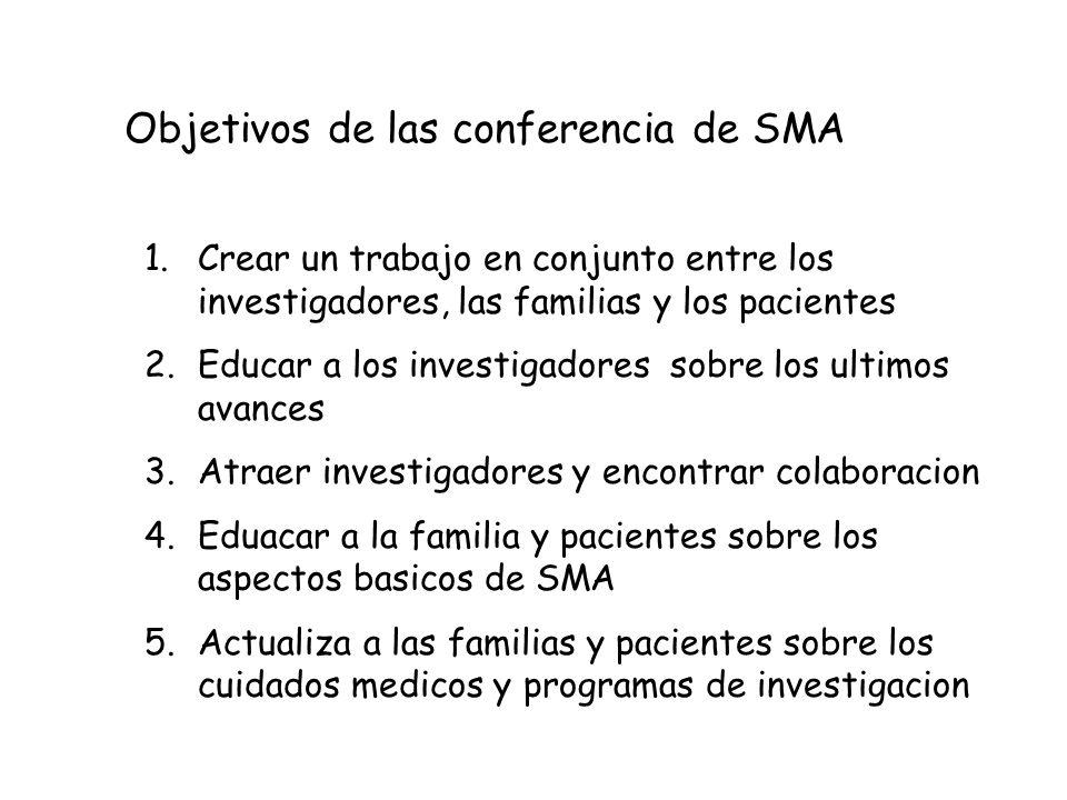 Objetivos de las conferencia de SMA