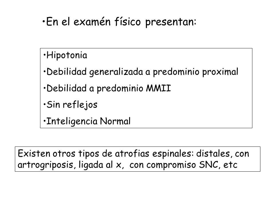 En el examén físico presentan: