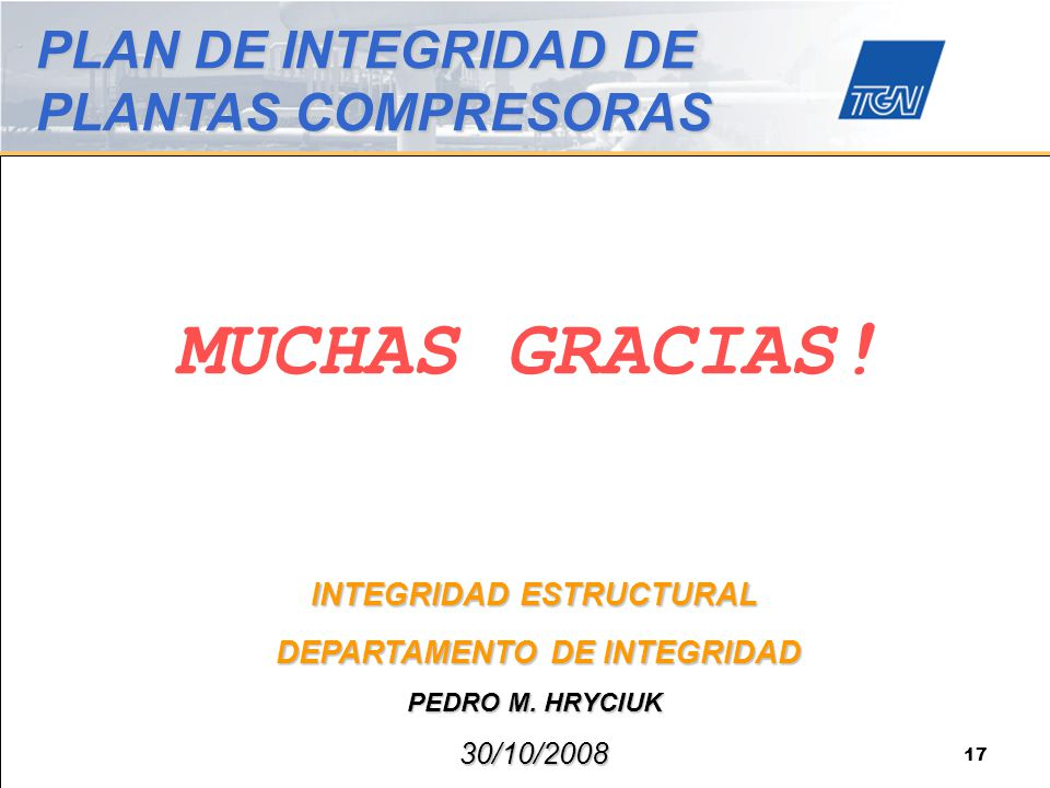 INTEGRIDAD ESTRUCTURAL DEPARTAMENTO DE INTEGRIDAD