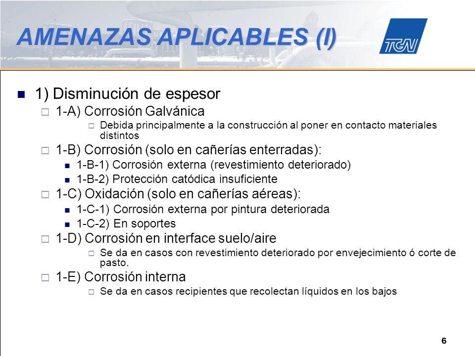 AMENAZAS APLICABLES (I)