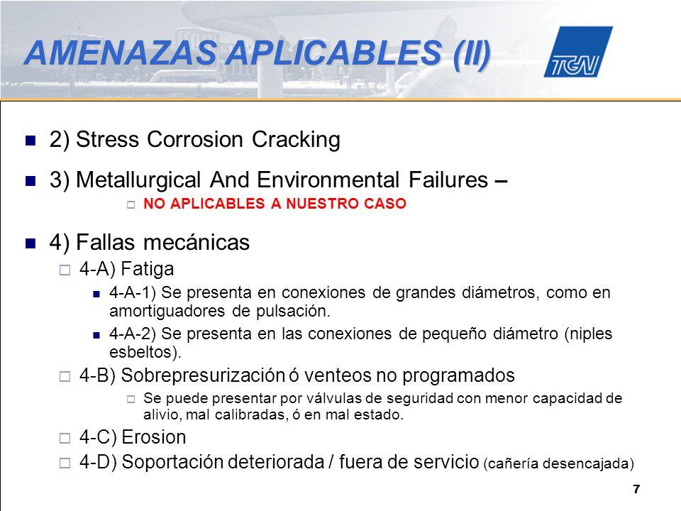 AMENAZAS APLICABLES (II)