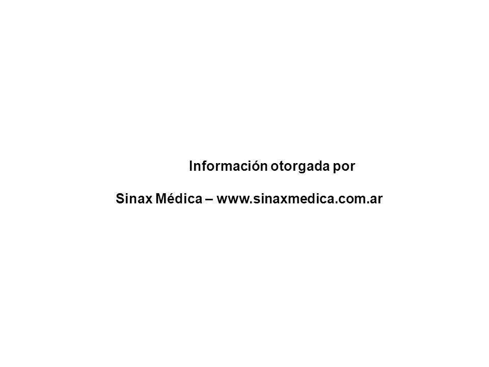 Información otorgada por Sinax Médica – www.sinaxmedica.com.ar