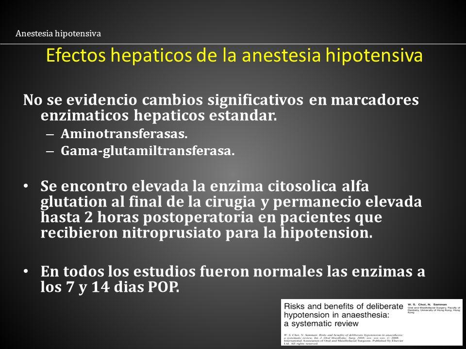 Efectos hepaticos de la anestesia hipotensiva