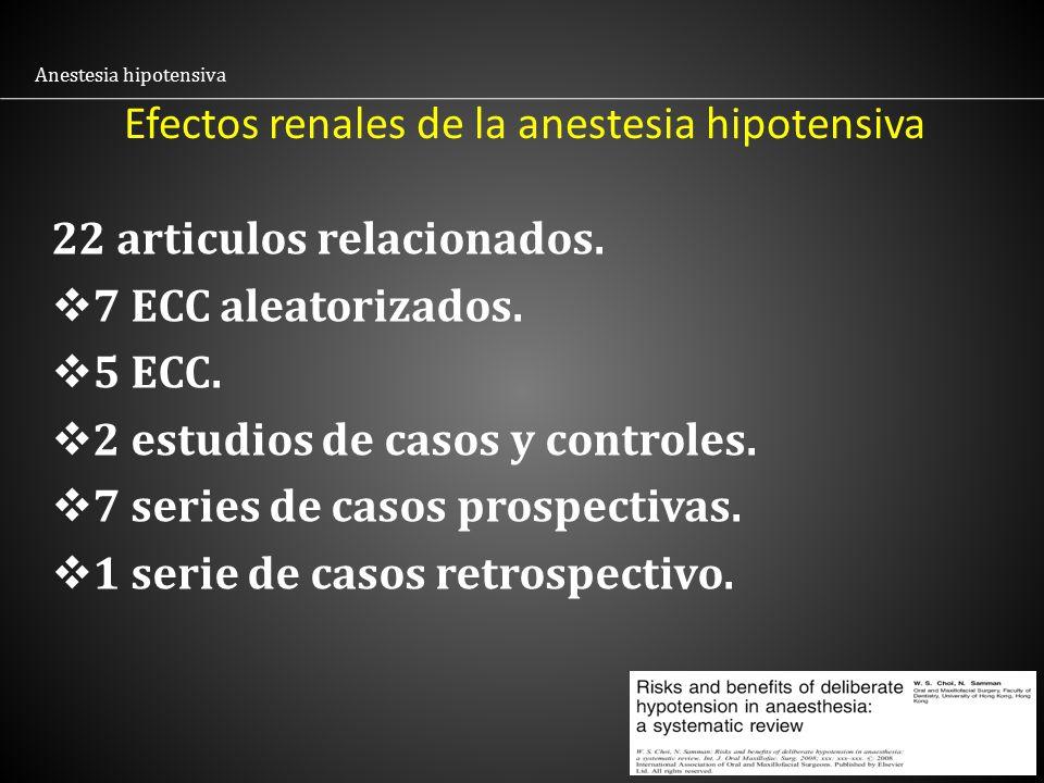 Efectos renales de la anestesia hipotensiva