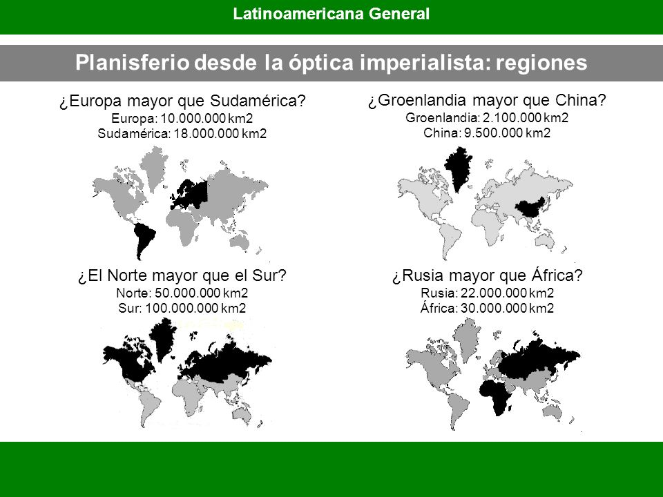 Planisferio desde la óptica imperialista: regiones