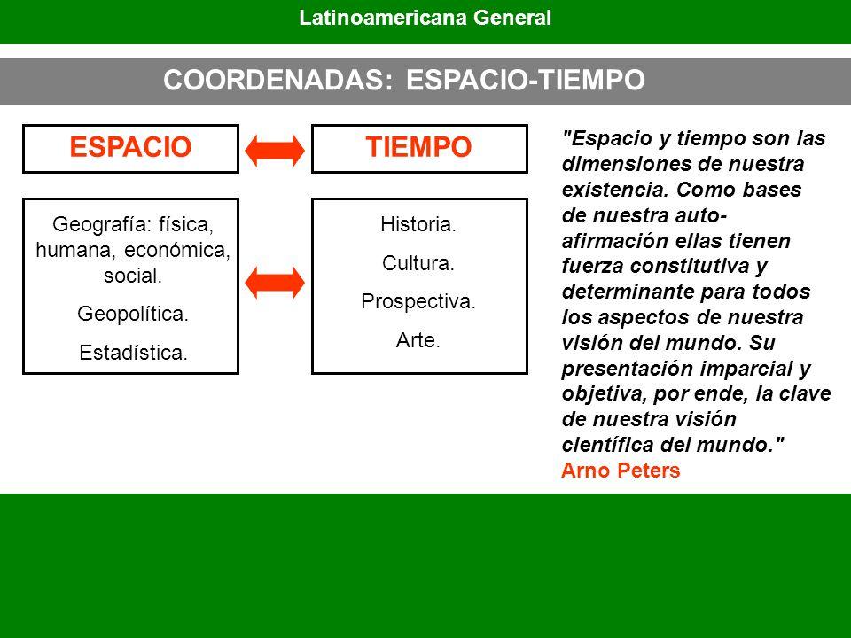 Latinoamericana General COORDENADAS: ESPACIO-TIEMPO