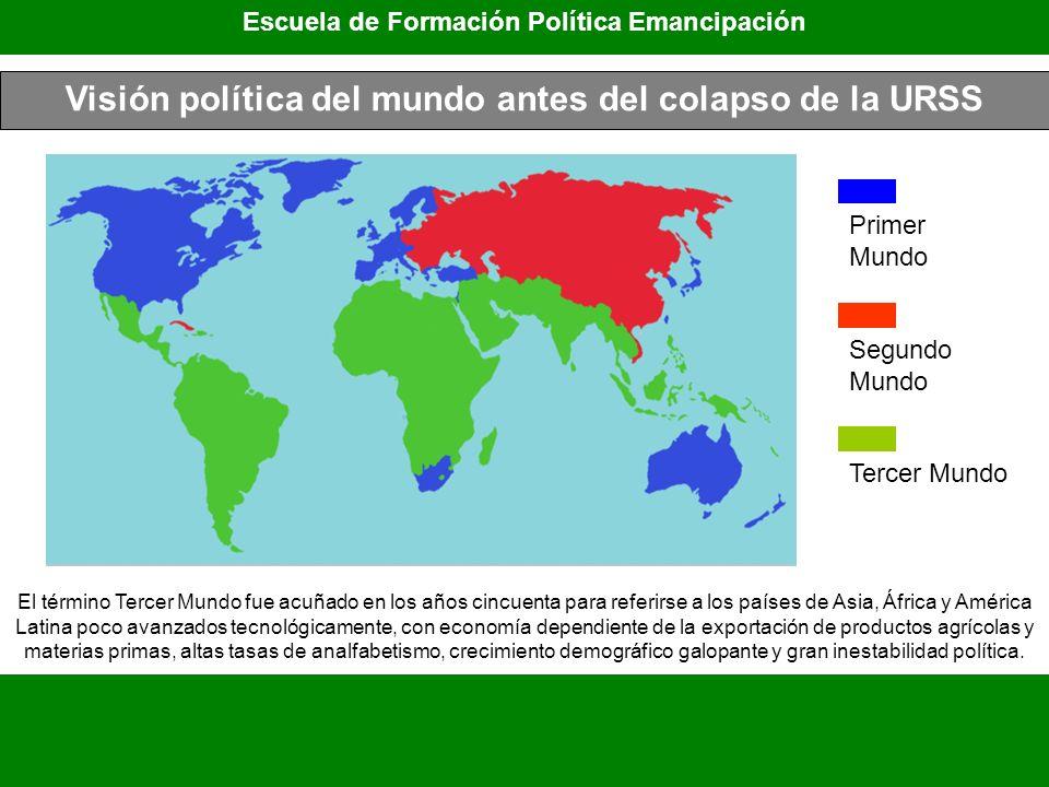 Visión política del mundo antes del colapso de la URSS