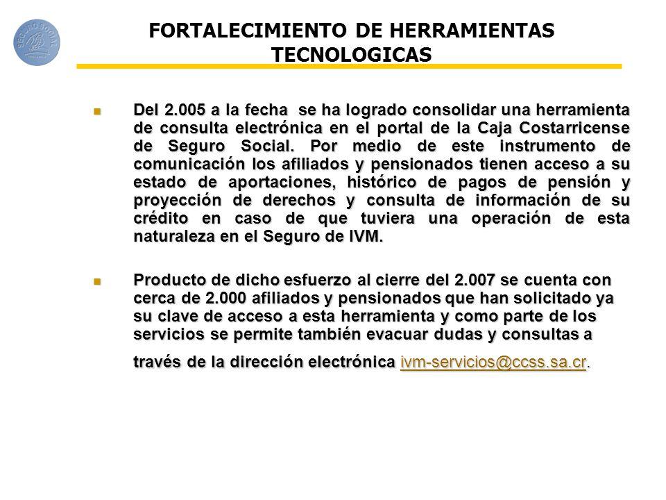 FORTALECIMIENTO DE HERRAMIENTAS TECNOLOGICAS