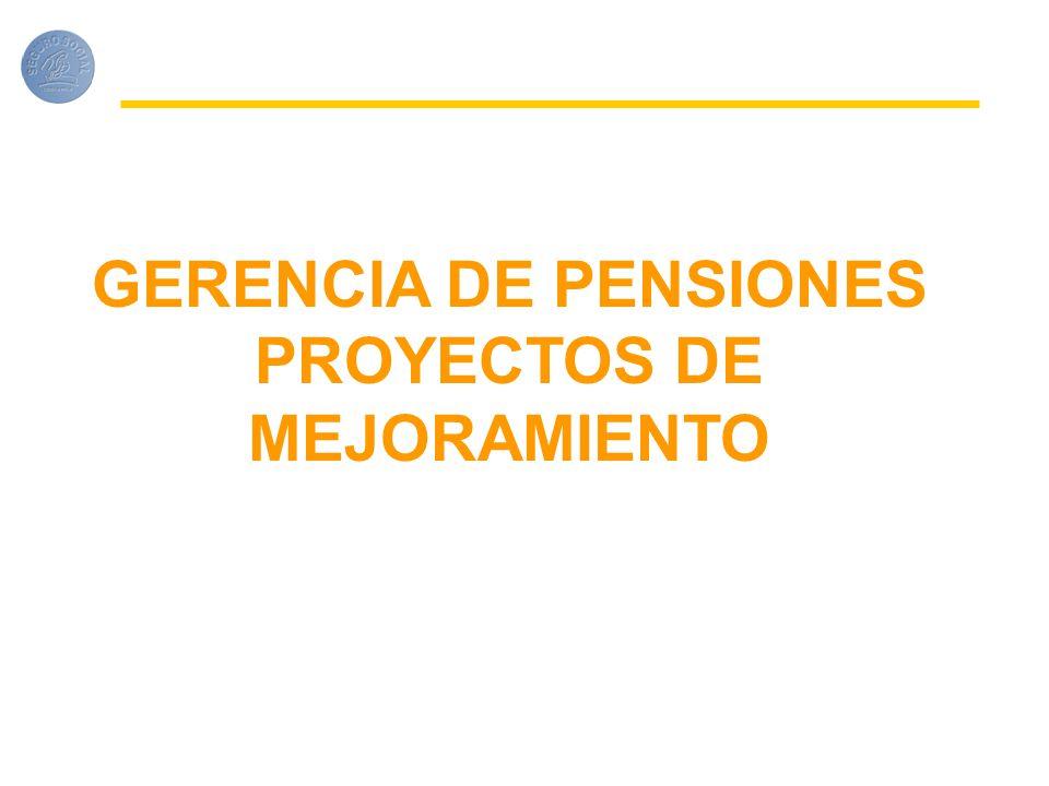 GERENCIA DE PENSIONES PROYECTOS DE MEJORAMIENTO