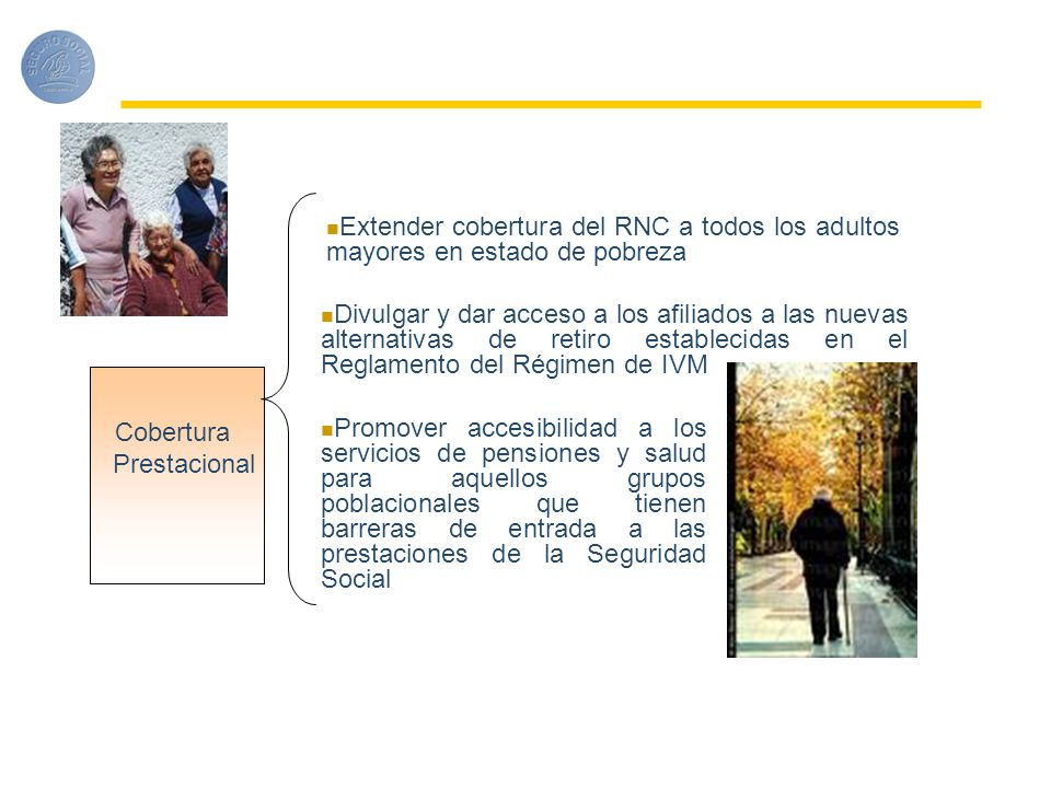 Extender cobertura del RNC a todos los adultos mayores en estado de pobreza