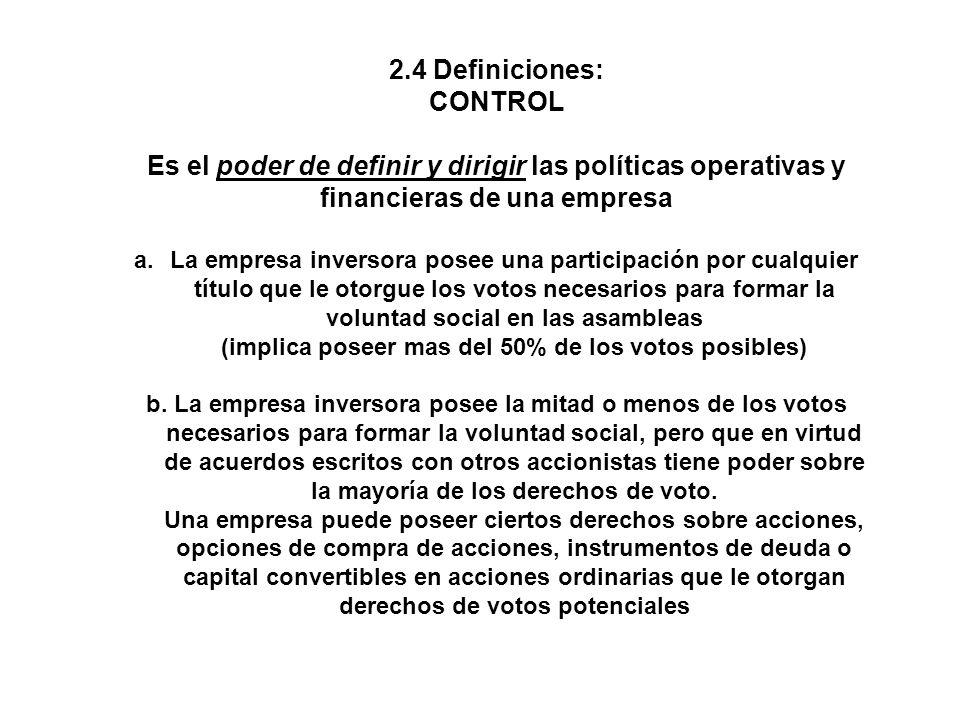 Es el poder de definir y dirigir las políticas operativas y