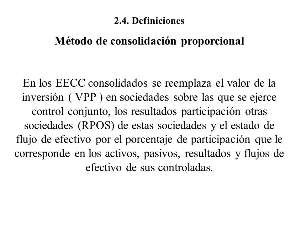 Método de consolidación proporcional