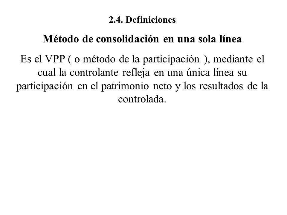 Método de consolidación en una sola línea