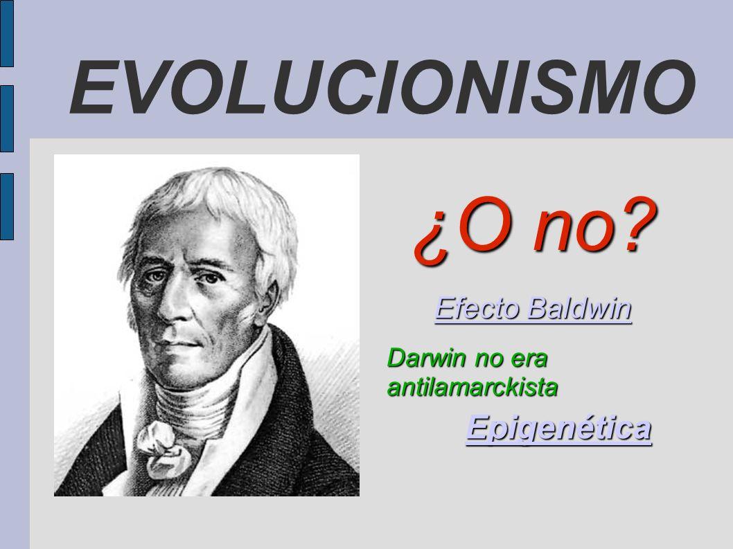 EVOLUCIONISMO ¿O no Epigenética Efecto Baldwin