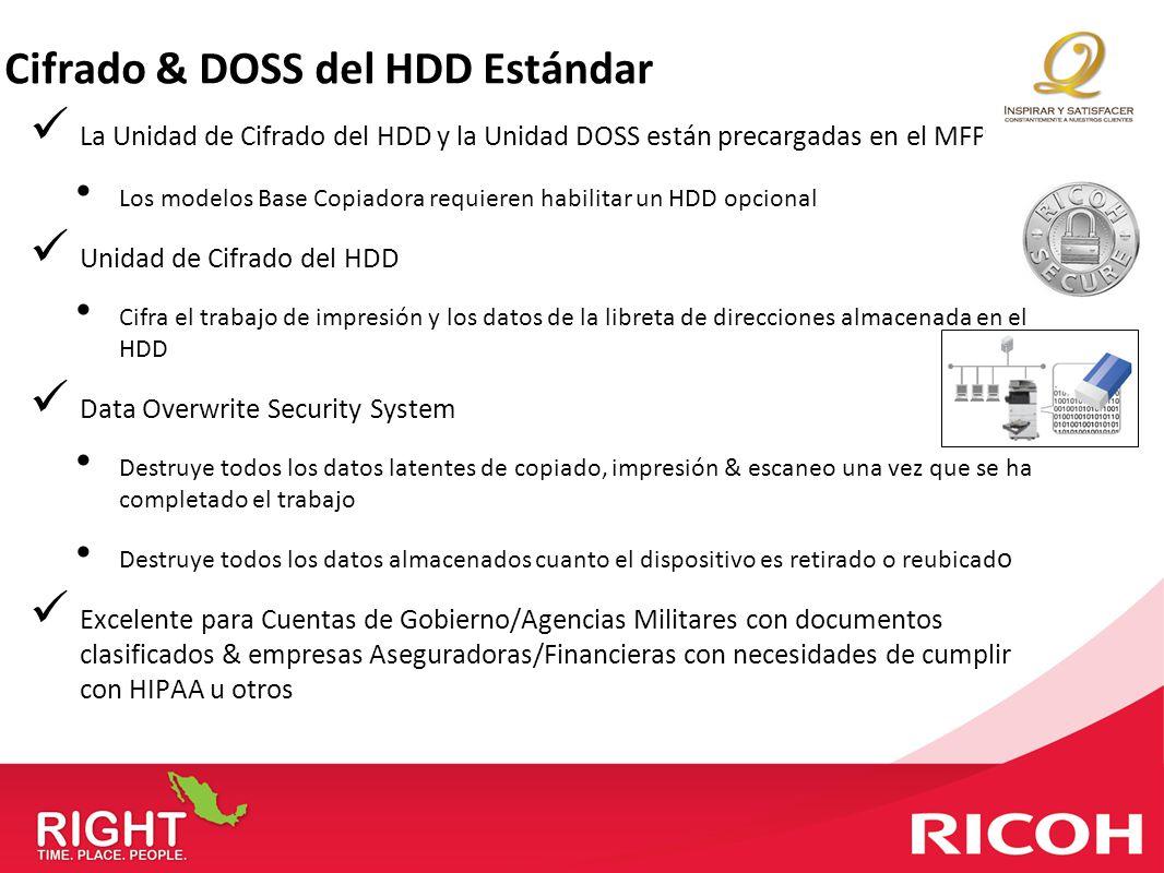 Cifrado & DOSS del HDD Estándar